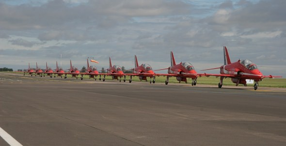 SaxonAir Host The Red Arrows