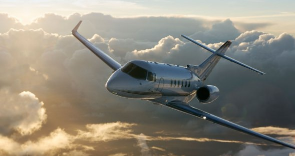 Hawker 900 sunrise
